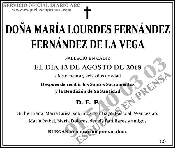 María Lourdes Fernández Fernández de la Vega
